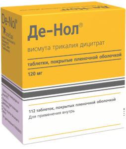 Де-Нол - гастропротекторный препарат, обладающий антибактериальными, противовоспалительными и вяжущими свойствами