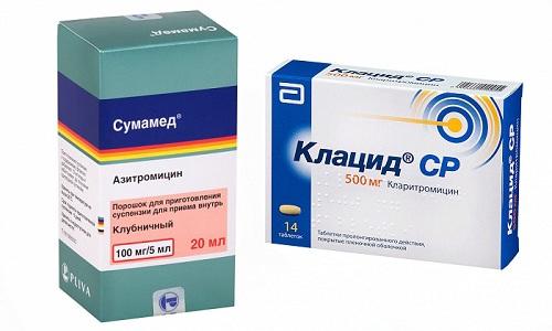 Клацид используют при язве желудка и двенадцатиперстной кишки