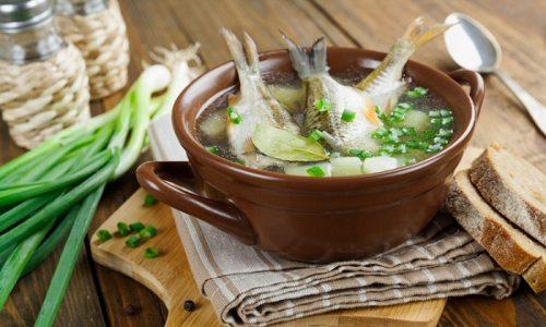 Для приготовления ухи следует выбирать рыбу только нежирных сортов